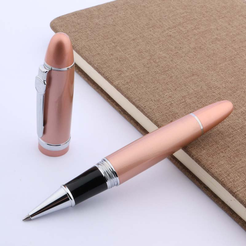 JINHAO 159 regalo para el colegio y la Oficina rosa dorado clásico Wiggle bolígrafo de bola metálico