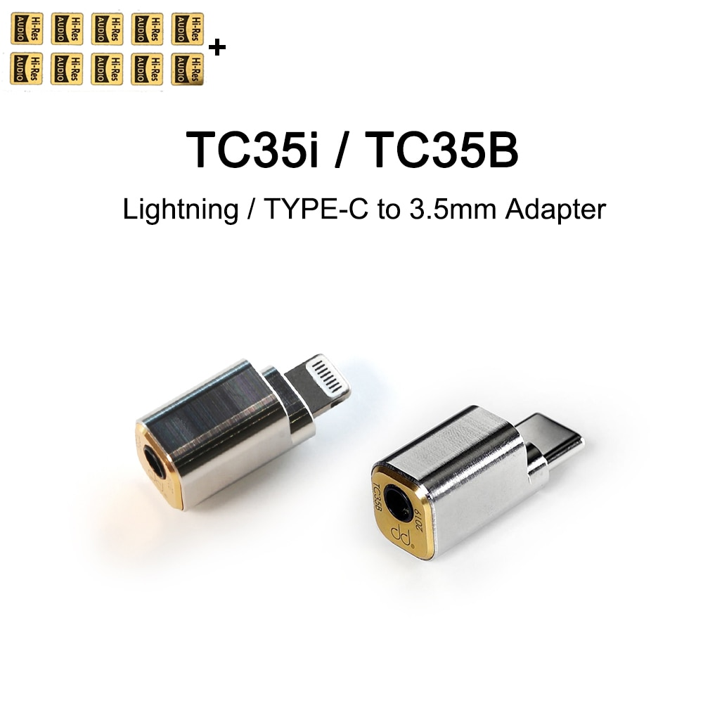 DD ddHiFi TC35i / TC35B البرق/نوع C إلى 3.5 مللي متر كابل محول آيفون 11 باد iOS ، الهاتف المحمول هواوي شاومي