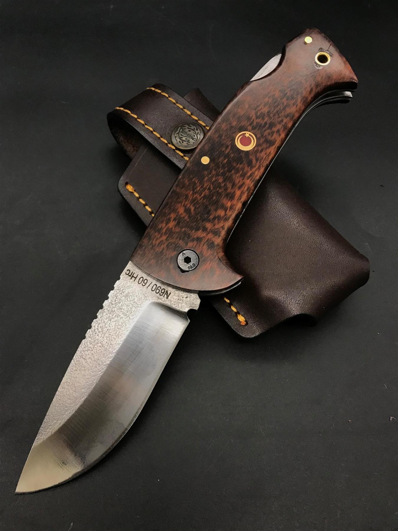 Handmade N690 Pocket Knife No: 1 TK42