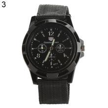 Hot Men's Fashion Watch Military Army Style Nylon Band Sports Analog Quartz Wrist Watch montre homme