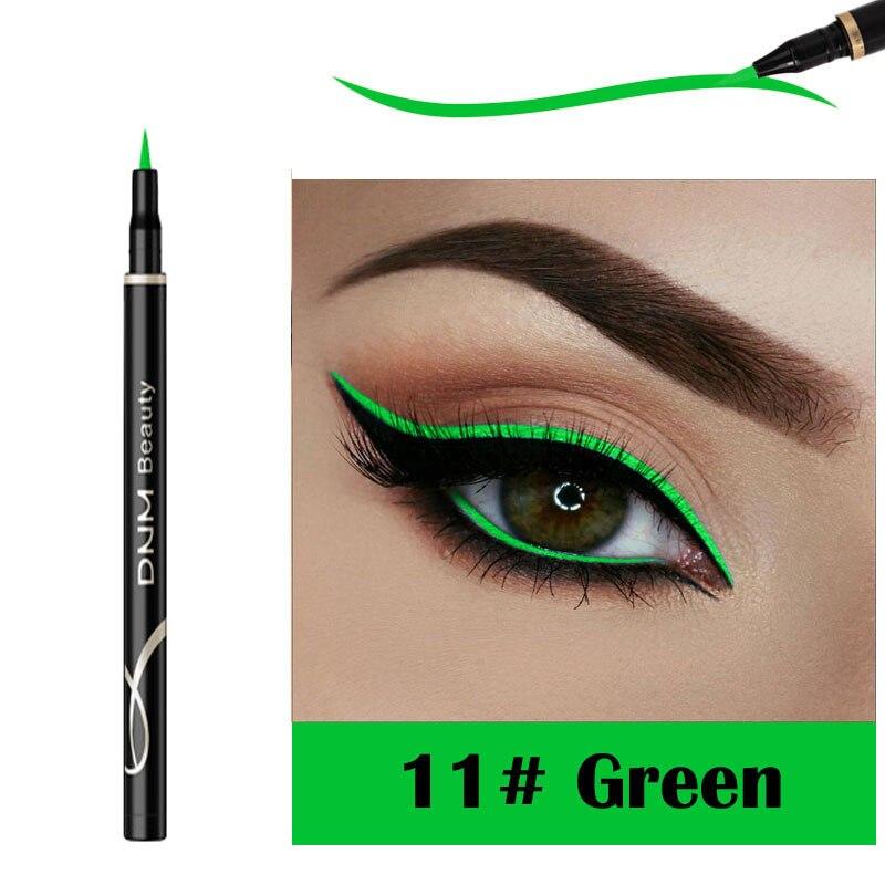 DNM матовая подводка для глаз кошачий глаз Макияж стойкий водонепроницаемый влагостойкий Быстросохнущий не цветущий жидкий карандаш для глаз 12 цветов TSLM2