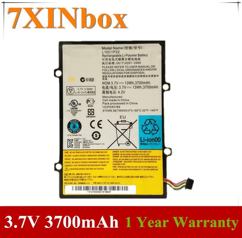 7XINbox 3.7V 3700mAh 13wh الأصلي L10C1P22 بطارية كمبيوتر محمول لينوفو Lepad A1 A1-07 اللوحي H11GT101A 121500028
