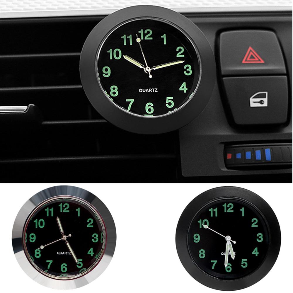 Автомобильные часы, светящиеся автомобильные цифровые мини-часы с внутренней палочкой, механические кварцевые часы, автомобильное украшен...