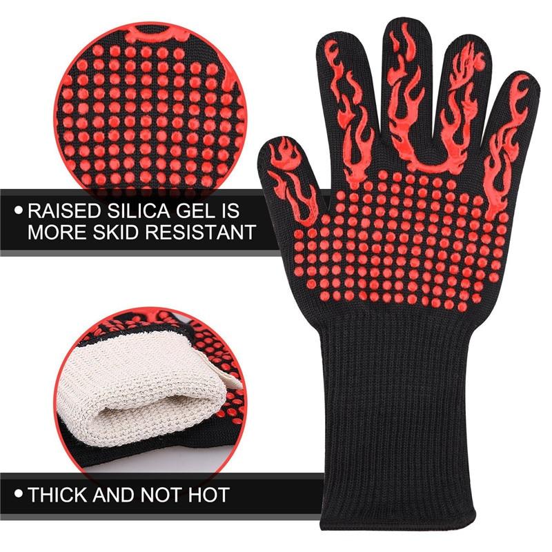 1pc multifuncional resistente ao calor luva para assar churrasco podolders luvas de cozinha luvas forno luvas de silicone grill guantes horno