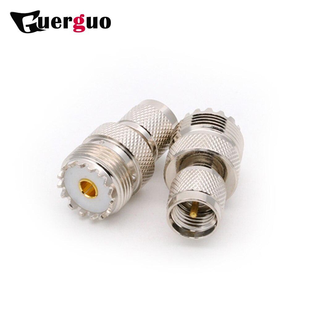 100 قطعة النحاس مصغرة UHF ذكر إلى UHF أنثى مستقيم محول UHF جاك إلى مصغرة UHF موصل قابس RF محول R موصل