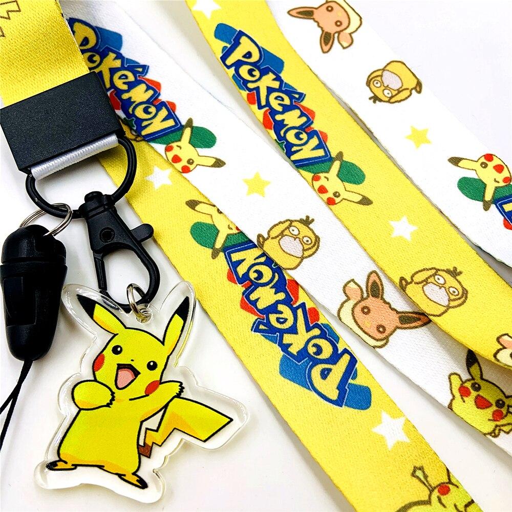 Anime dibujos animados Kawaii divertido ratón eléctrico Cosplay accesorios clave Correa cordones cuello/correas de muñeca Unisex niño niñas teléfono Accesorios