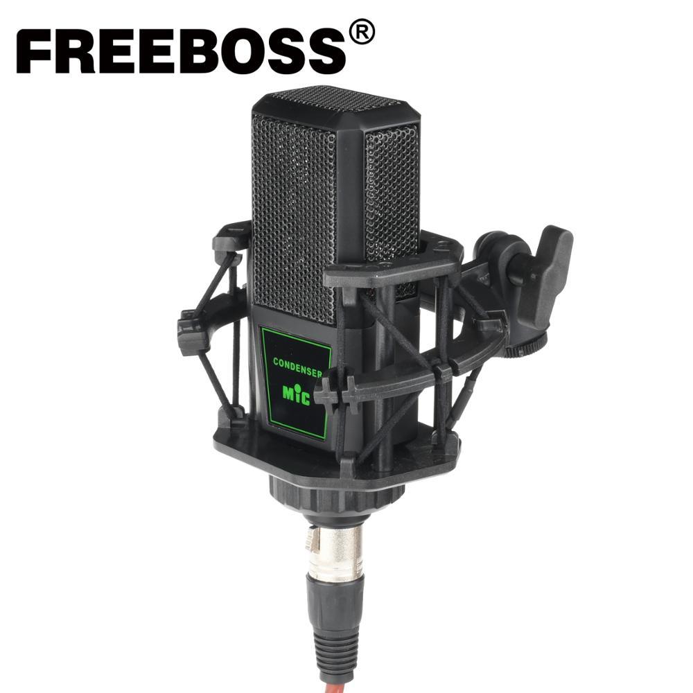 FREEBOSS CM-12 48 فولت فانتوم السلطة البث الغناء استوديو تسجيل جوقة دردشة الصوتية المعادن المهنية مكثف ميكروفون