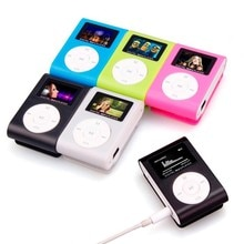 Metal Case Mini USB Clip MP3 Player LCD Screen 3.5mm Stereo Jack Support 32GB Micro SD TF Card Suppo