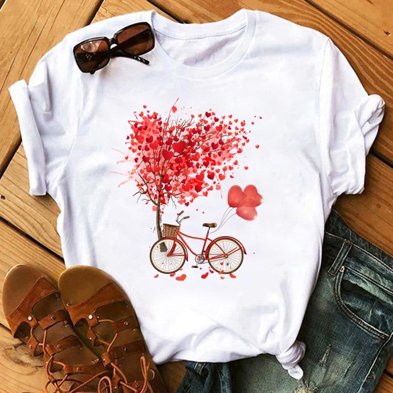 Maycaur Vogue T Shirt Women Summer Casual Tshirts Tees Harajuku Korean Style Graphic Tops New Kawaii Short Sleeve Female T-shirt