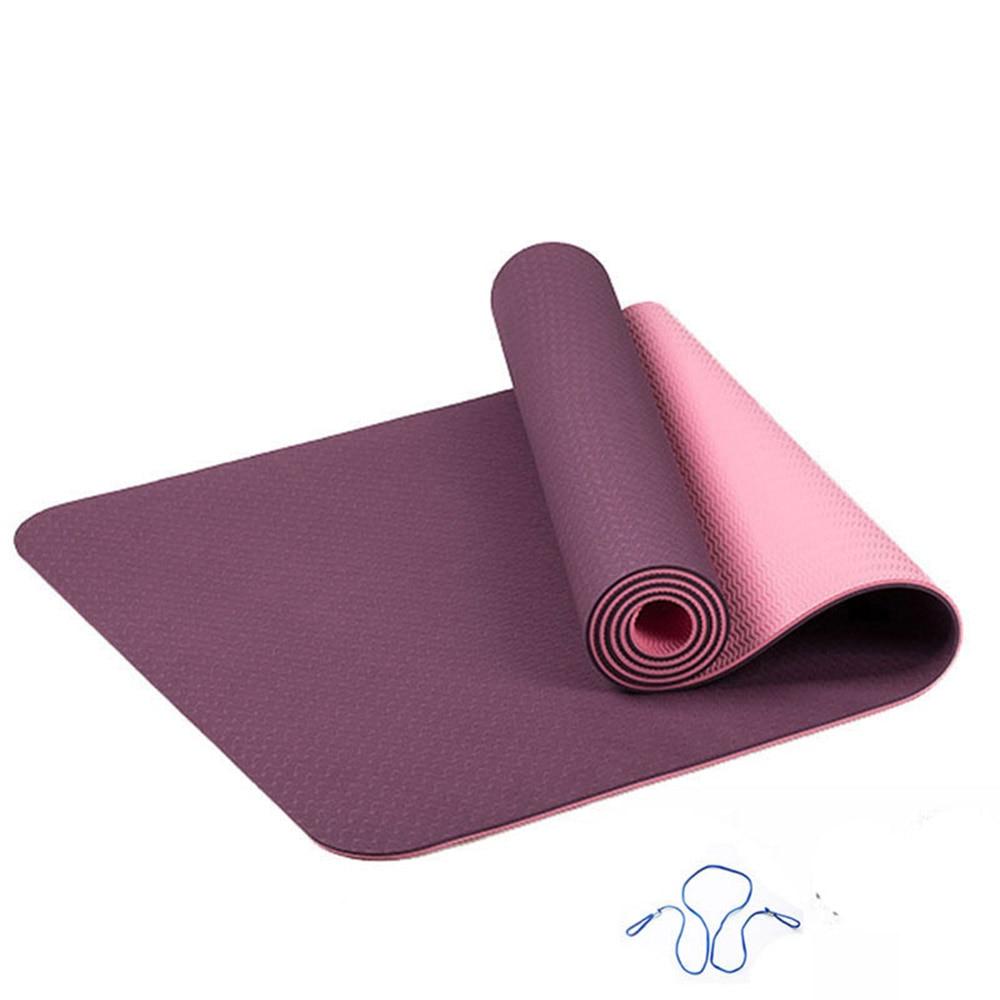 ITSTYLE TPE Yoga Mat 6mm No-slip Yoga Mat Fitness Gym Pilates Colchonete Pad Sport Mat