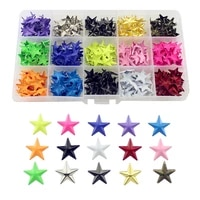 300pcs 15mm colorful pentagram claws rivets for leather candy colors stars punk spikes for clothes bag belt diy accessory