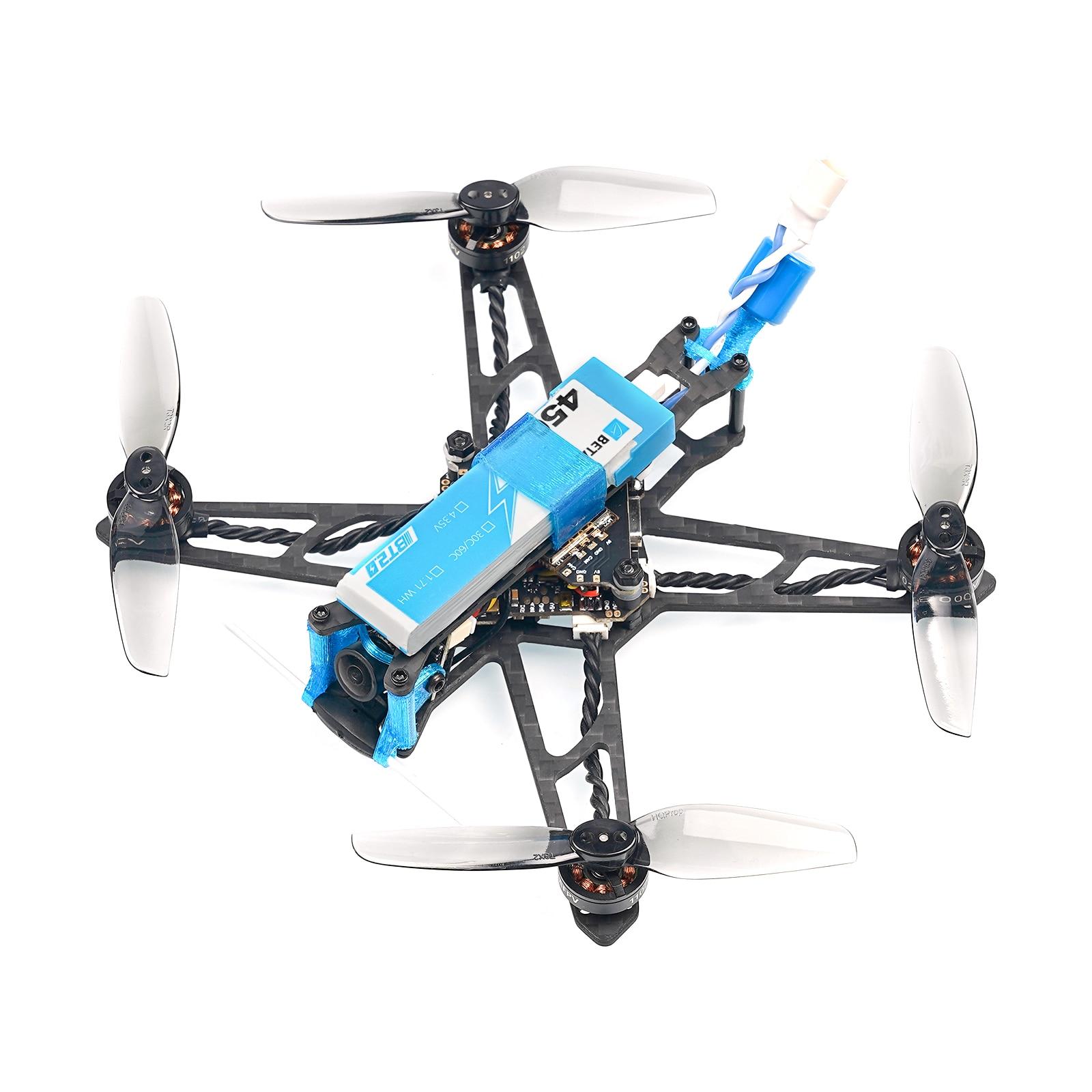 BETAFPV HX115 LR Toothpick Drone F4 1S 12A AIO FC with ELRS 2.4G Receiver 1102-18000KV Motor HX115 LR Toothpick Drone