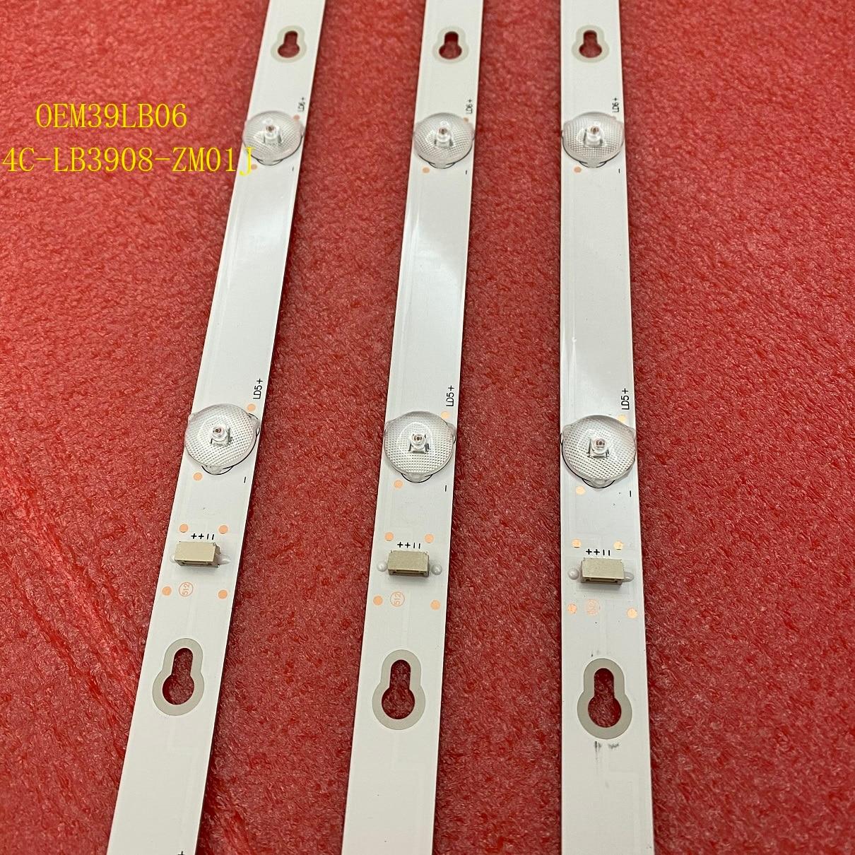3 قطعة/المجموعة LED الخلفية بار ل TCL 39L2650C L39S4900FS L39S4900 OEM39LB06-3030F2.1-V0.2 4C-LB3908-ZM01J
