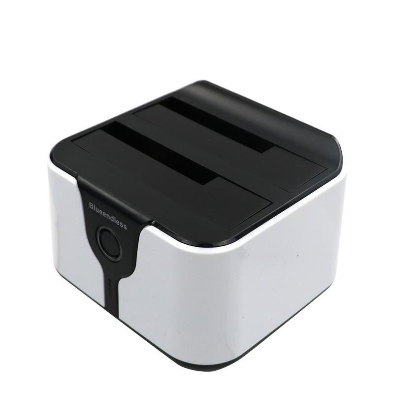 1TB Reading Speeds Dual Bay Hdd Sata Docking Station Usb 3.0 External Hard Drive Case High Quality Hdd 2.5 Aluminum Hdd Dock Box
