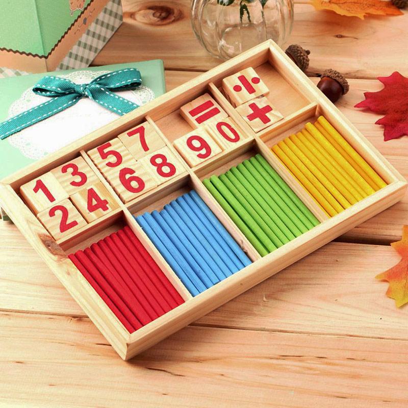 Bloques de figuras palo para contar s juguetes educativos de madera educación temprana palo para contar rompecabezas de madera juguete aritmético