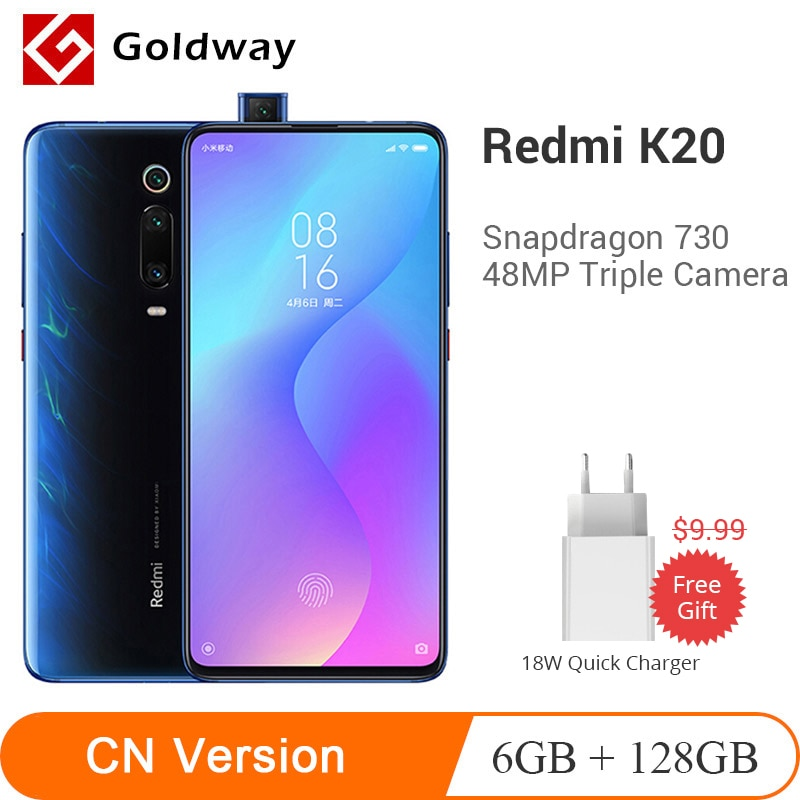 "Original Xiaomi Redmi K20 6GB 128GB Smartphone Snapdragon 730 Octa Core 6,39 ""Taco pantalla 48MP Triple Camera 4000mAh batería"