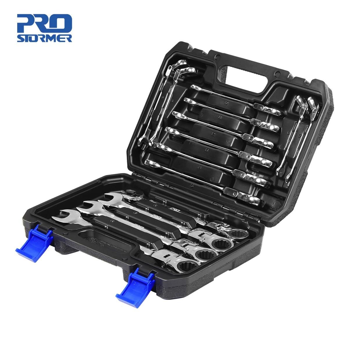 PROSTORMER 14PCS Keys Set Multitool Wrench Ratchet Spanners Set Hand Tool Wrench Set Universal Wrenc