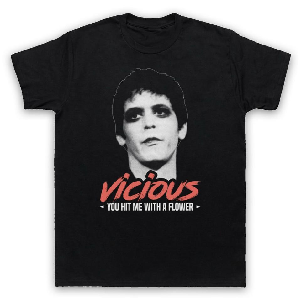 LOU REED UN VICIOUS VELVET UNDERGROUND ROCK, camiseta para adultos para hombre, camiseta, camiseta Cool Casual de algodón