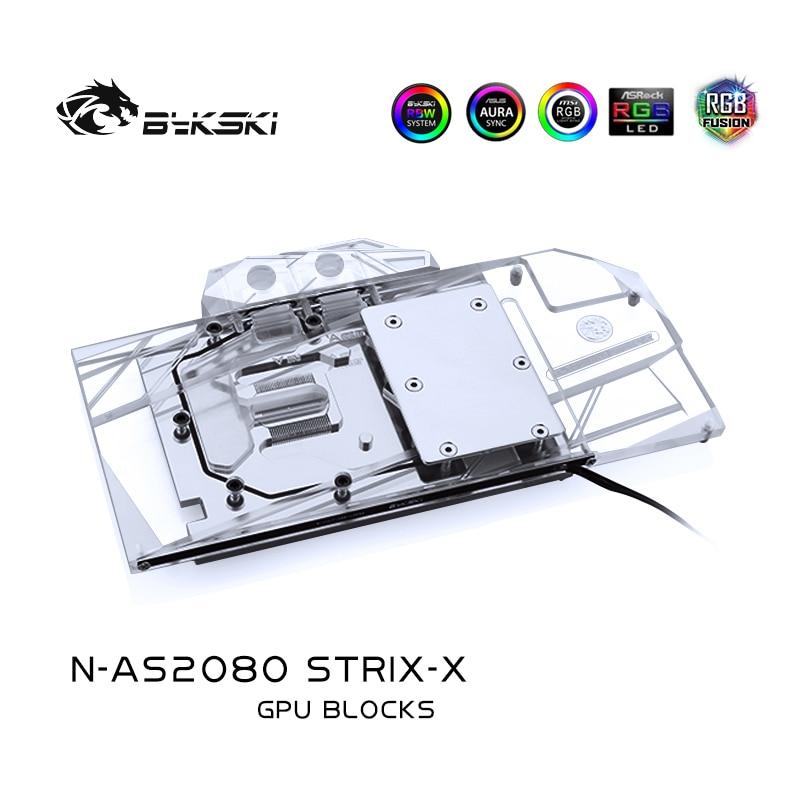 تستخدم كتلة الماء من Bykski لـ ASUS ROG STRIX RTX2080 OC/ 2080-O8G-GAMING/ RTX 2070 SUPER/ RTX2080S/اللوحة الخلفية الأصلية المتوافقة