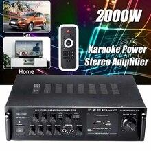 2000W puissance amplificateur stéréo Bluetooth FM USB SD karaoké maison KTV 220V voiture amplificateur Audio amplificateur de puissance bluetooth stéréo maison