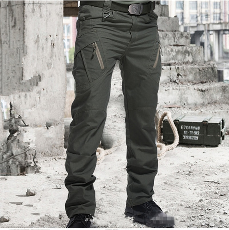 QW 2021 City Military Tactical Pants Men Combat Army Trousers Many Pockets Waterproof  Wear Resistant Casual Cargo Pants Men