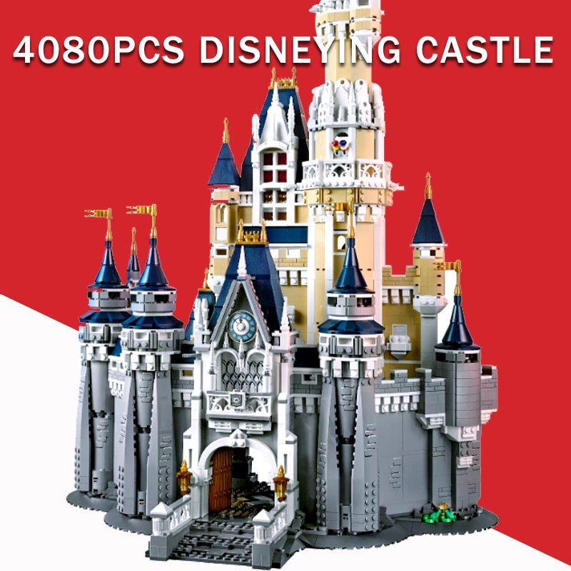 Daisying Compatible DIY Castillo Donalded 16008 Ducked princesa 71040 bloques de construcción 4080 Uds figuras ladrillo niñas juguetes para niños
