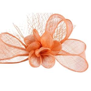 Elegant Women Fashion Headwear Sinamay Mesh Fascinator Hair Accessories Mesh Headdress For Elegant Ladies Show Race Headdress