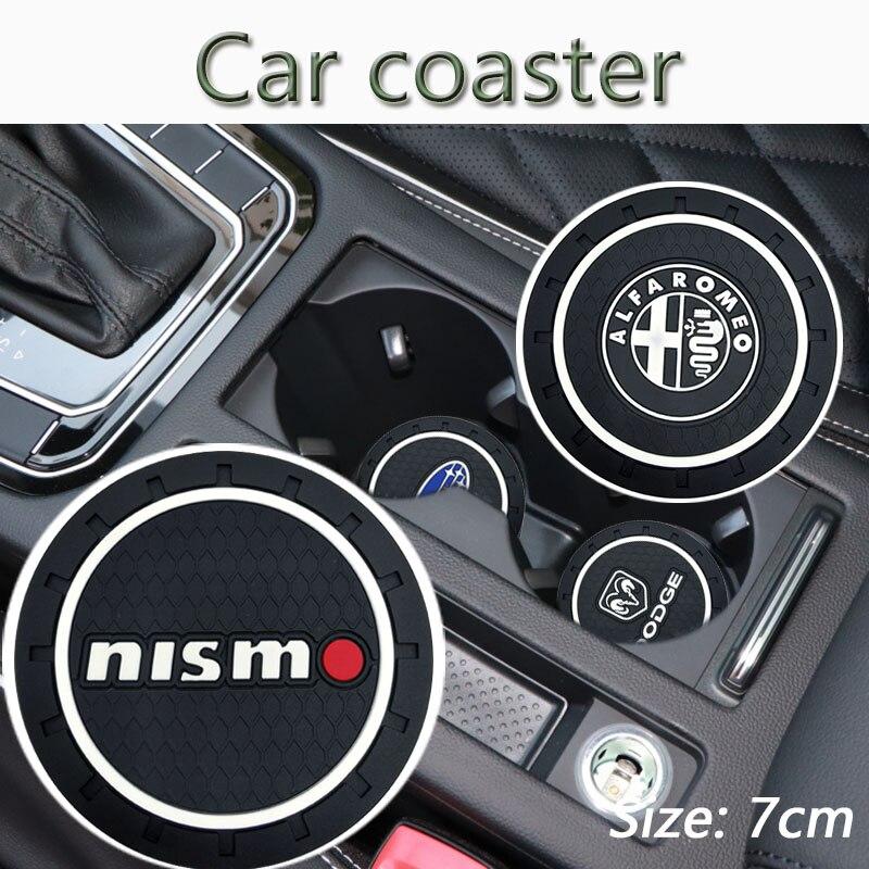 Posavasos de silicona antideslizante para coche, accesorios de insignia para Fiat Punto...