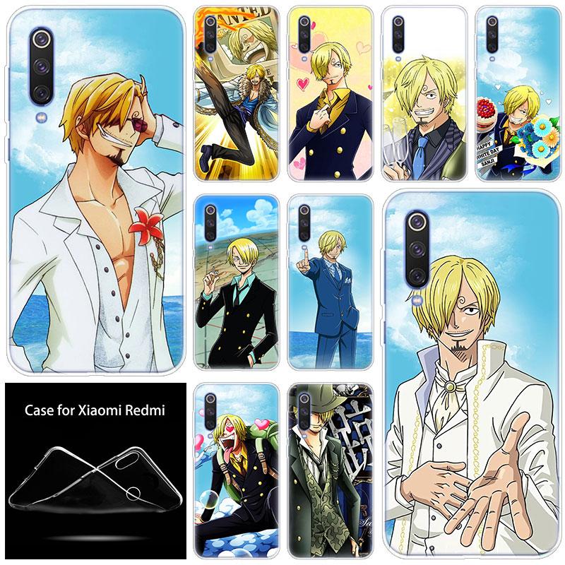 luxury Hot Soft Silicone Case One Piece sanji for Xiaomi Mi CC9E 9SE 9T 8 Pro A2 A3 Lite 8SE A1 5X 6X Mix 3 2S Play Pocophone F1