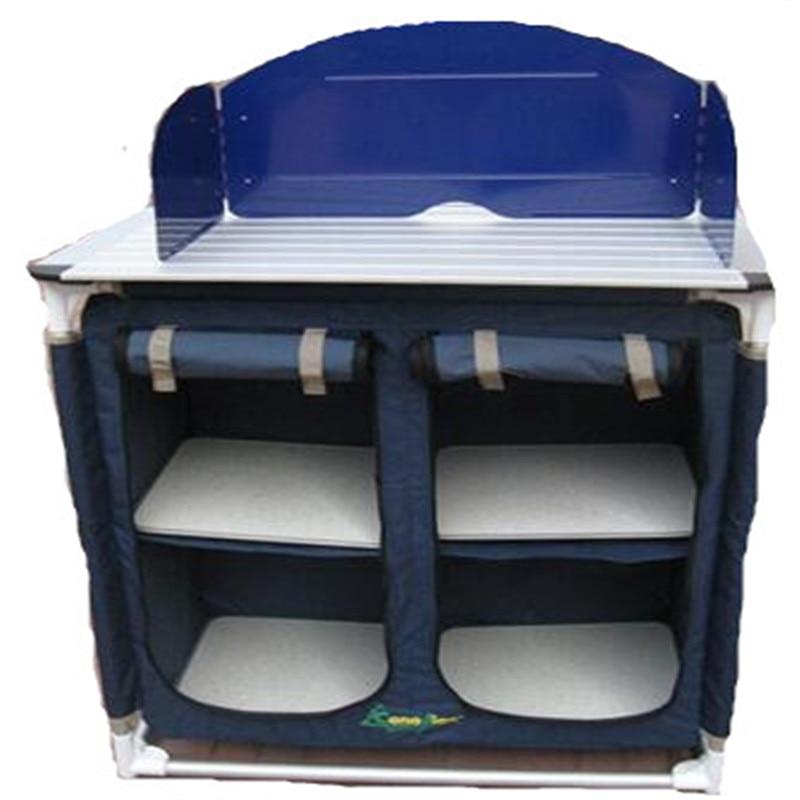 في الهواء الطلق المحمولة المحمول مجموعة أدوات المائدة المطبخ التخييم وحدة التحكم نزهة الجمعية المحمولة الجدول