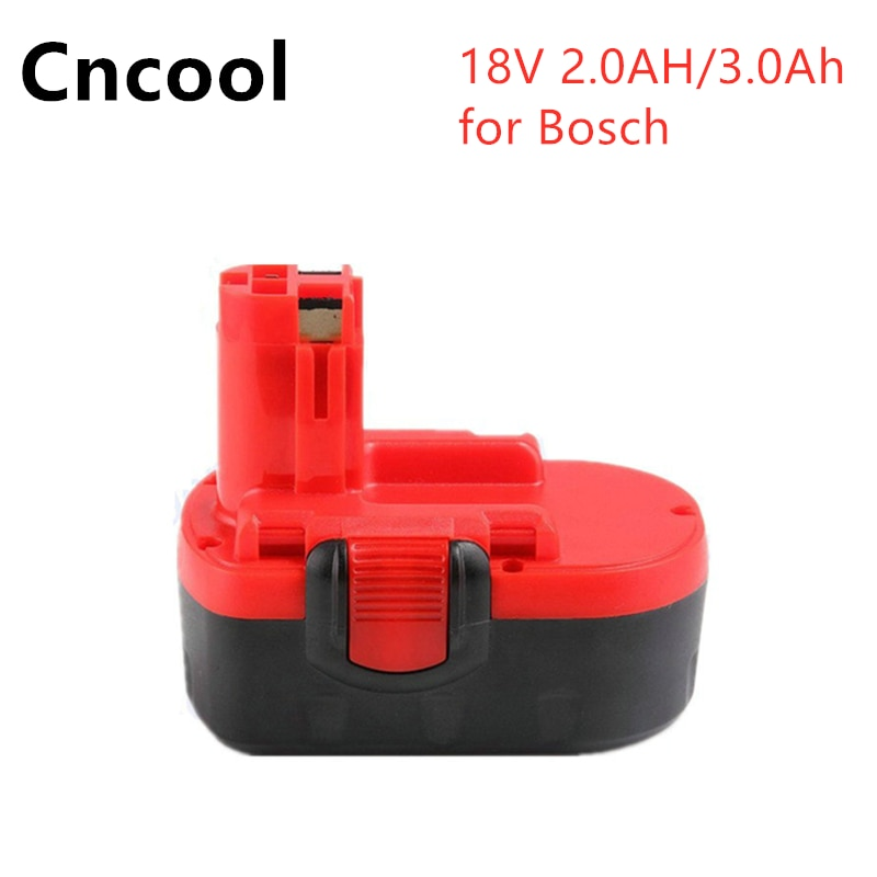 Taladro eléctrico batería 18V 2.0Ah/3.0Ah Ni-MH para Bosch BAT025 BAT026 BAT160 BAT180 BAT181 BAT189 2 610 de 909 020 BatteryElect