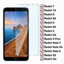 Anti-Burst Tempered Glass For Xiaomi Redmi 7A 7 8 8A 6 6A S2 Go Screen Protector On Redmi 5 Plus Note 5 5A 6 Pro Protective Glas