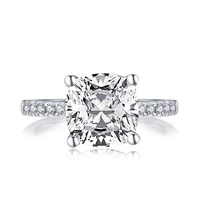 lesf classic 925 sterling silver fine jewelry 3 25 ct engagement 5a zircon wedding rings for women