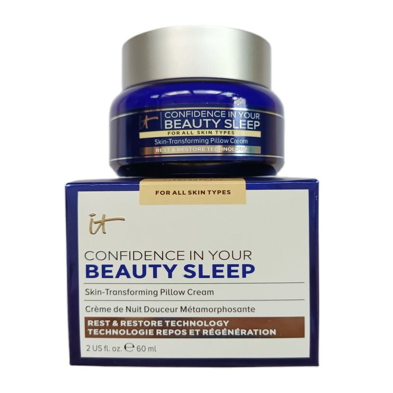 NEW It Confidence In Your Beauty Sleep Skin Transforming Pillow Cream 60ml For All Akin Types Sleep Cream 60ML+GIFT