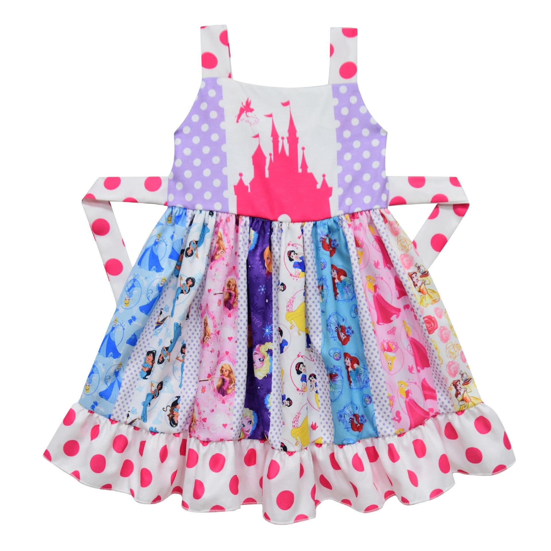Verano sin mangas Twirl vestido niñas princesa vestido Boutique moda leche seda fajas vestido niñas vacaciones fiesta ropa