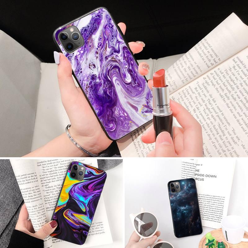 Vogue Coulant Coloré Liquide Pour Iphone 11 Pro Max Xr Xs Max 6S 8 7 plus Téléphone Couvre Capa