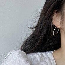 925 Sterling Silver Ring Earrings for Women 2020 Big Ring Earrings 2021 New Trendy Ear Ring Korean C