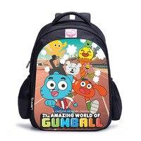 16 Inch The Amazing World of Gumbal Children School Bags Orthopedic Backpack Kids School Boys Girls Mochila Infantil Catoon Bag