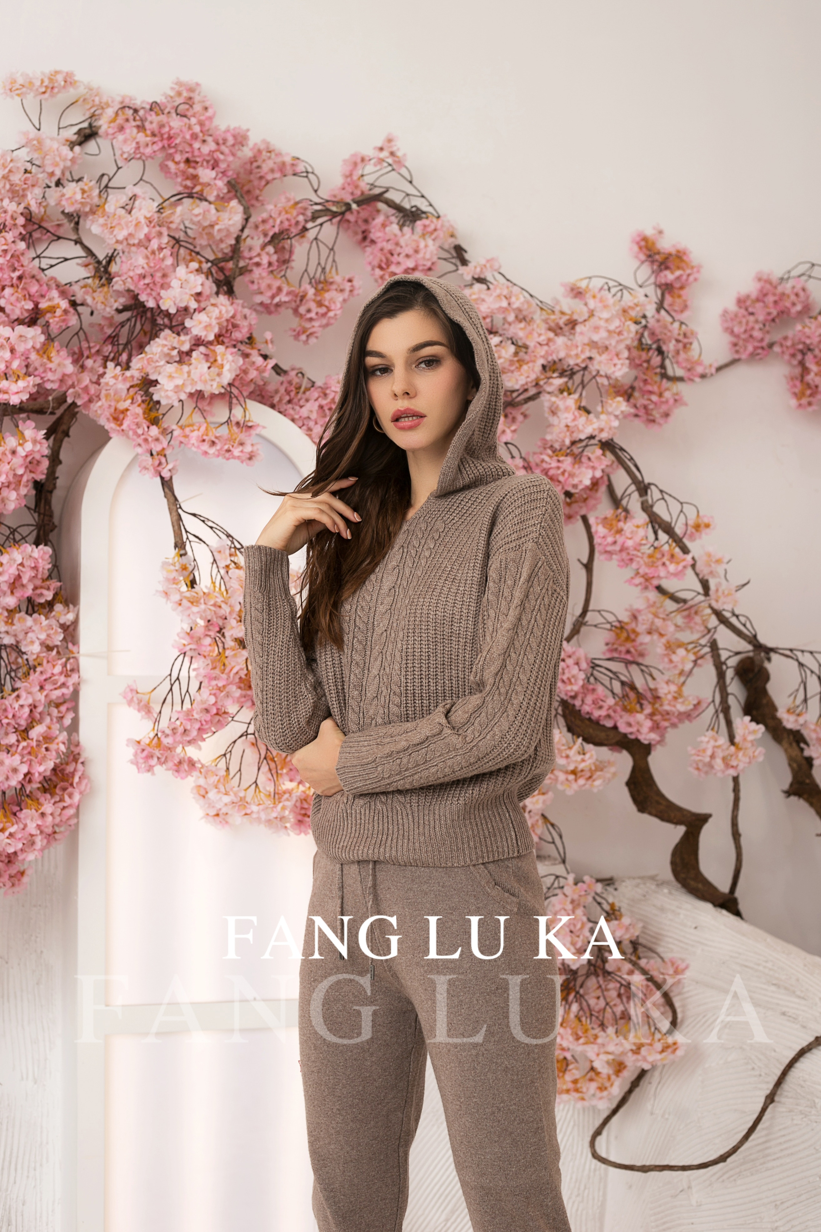 High end cashmere knitting two piece women's fashion sets new casual Leggings in autumn and winter enlarge