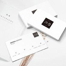100 قطعة/200 قطعة مخصص شعار بطاقة عمل ورقية الطباعة السريعة مقاوم للماء لمسة ناعمة 300gsm بطاقة الأعمال 90x53 مللي متر freeprint