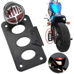 Мотоциклетный боковой кронштейн для заднего фонаря номерного знака для Harley Chopper Bobber аксессуары для мотоциклов