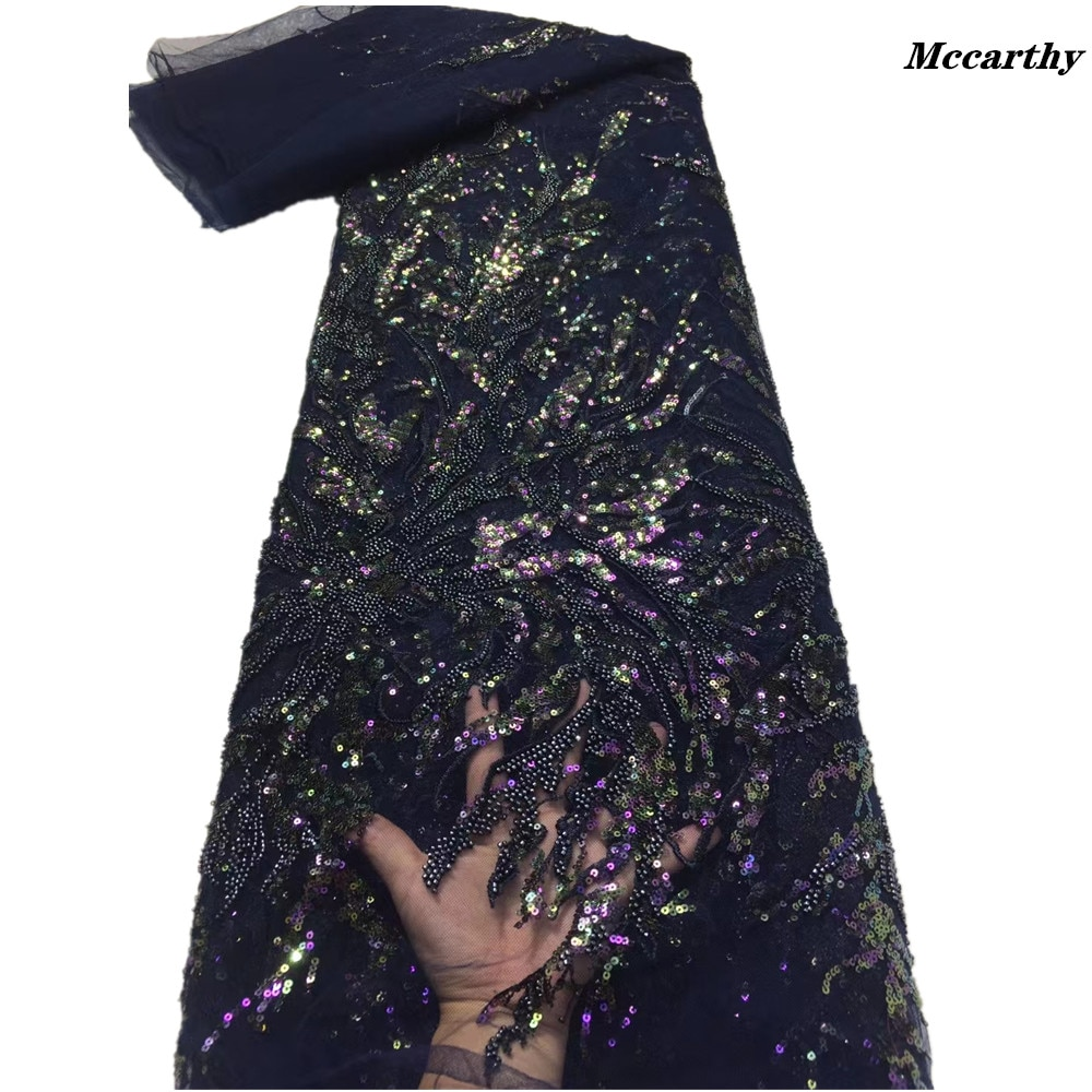 مكارثي النيجيري الأفريقي الترتر الخرز أقمشة الدانتيل 2021 شمسيّة دانتيل عالية الجودة المواد الفرنسية تول أقمشة الدانتيل لفستان الخياطة