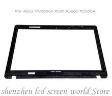 شاشة 15.6 بوصة تعمل باللمس لأجهزة الكمبيوتر المحمول محول الأرقام زجاج لأسوس Vivobook X550 X550C X550CA مع إطار الحافة
