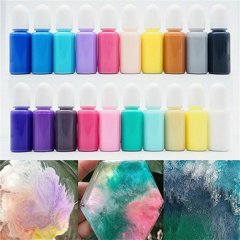 AliExpress - Macaron Series Fluid Artist Epoxy Resin Ink Colorant Pigment Dye Resin Pigment DIY Crafts Art Set Resin Paint Dye 10ml