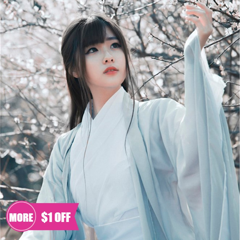 Традиционный китайский костюм народного танца, женское платье ханьфу в старинном восточном стиле, танцевальная одежда династии Тан, сказоч...