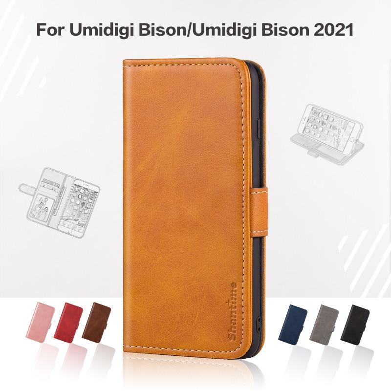 Flip Cover For Umidigi Bison Business Case Leather Luxury With Magnet Wallet Case For Umidigi Bison 2021 Phone Cover