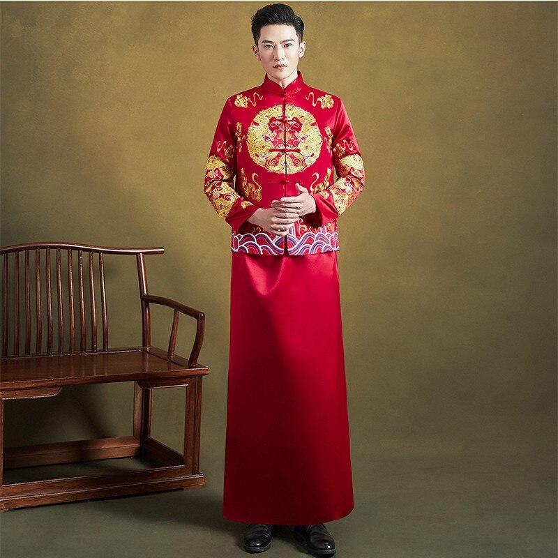 فستان زفاف كلاسيكي قديم من FZSLCYIYI ، فستان زفاف آسيوي ، تطريز زهري صيني ، بدلة شيونغسام