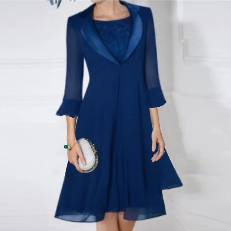 الشيفون امرأة فستان بدلة الزفاف بدلة أم فستان عروس مع الكشكشة سترة مساء فستان مخصص فستان الزفاف