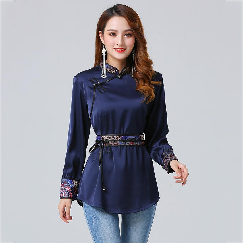 Monglian clothing female robe classical women tang suit style jacket oriental costume traditional asia ethnic clothing недорого