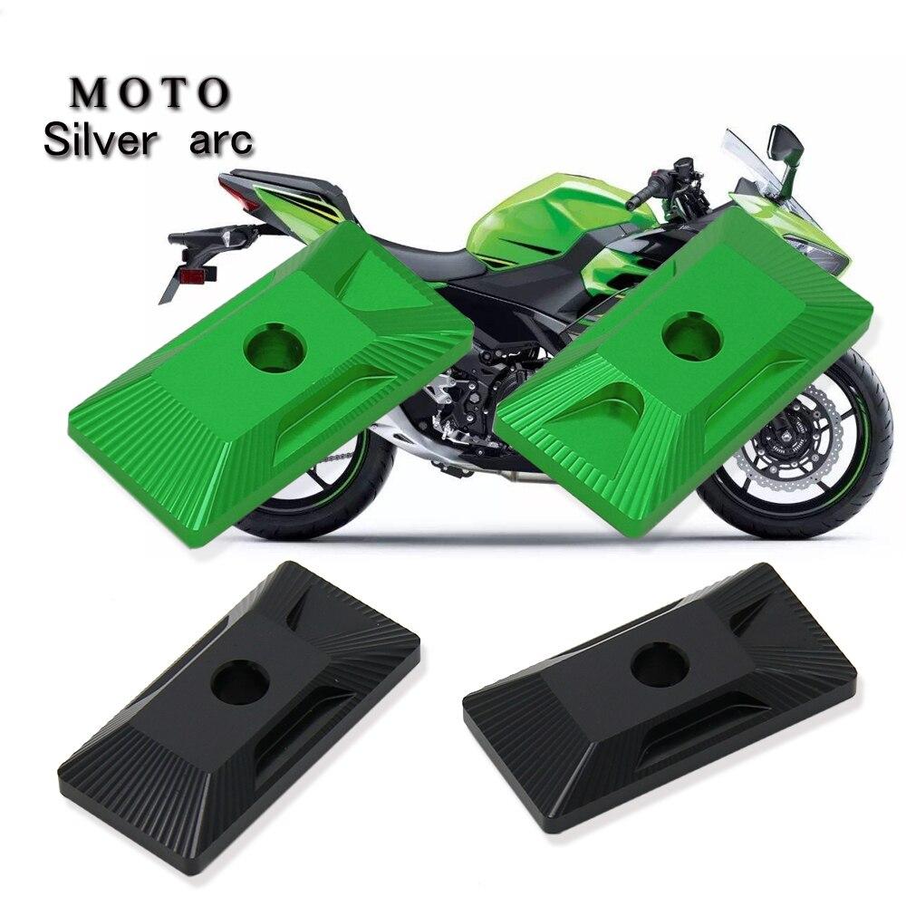 Motocicleta eixo traseiro cadeia ajustador blocos tensor ajustador de corrente para kawasaki ninja 400 ninja250 2018 2019 z400 2019